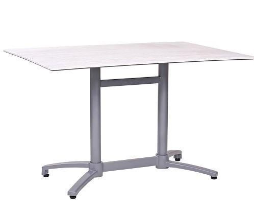 Bistrotisch Outdoor Tisch - klappbar und stapelbar, Farbe des Gestells: silber matt