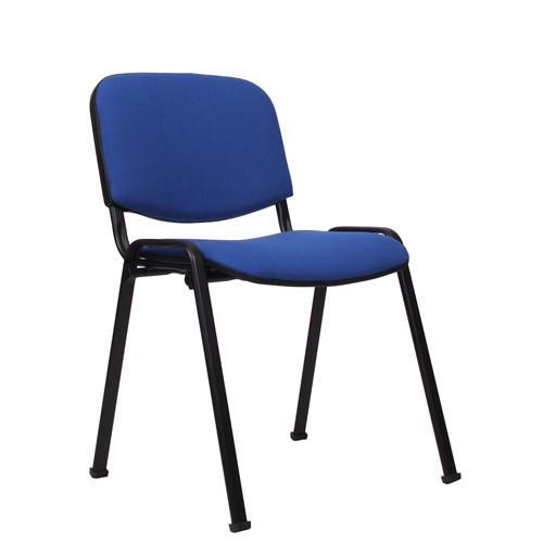 Stapelstuhl ISO Gestell schwarz, Bezug blau