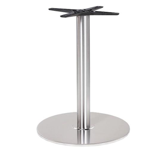 verchromtes Tischgestell aus Gusseisen für Restaurants und Bistros