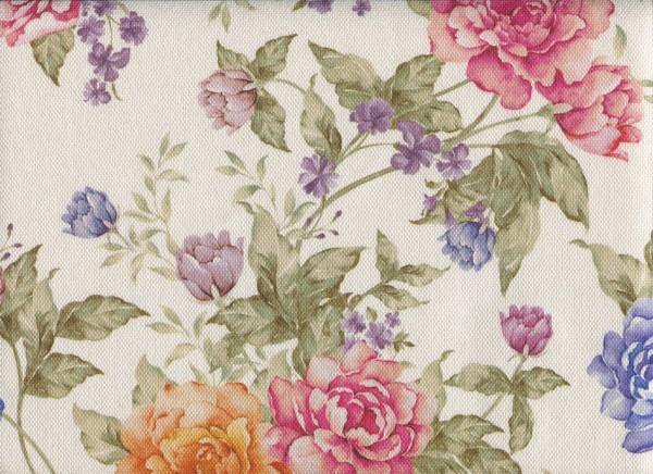 Möbelstoff mit Blumen Muster zum Polstern - FLORA0133 rosenmix