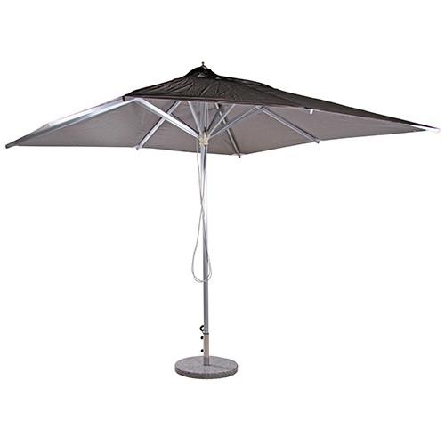 Sonnenschirm für Außengastronomie in anthrazit - 3 x 3 m ohne Schirmständer