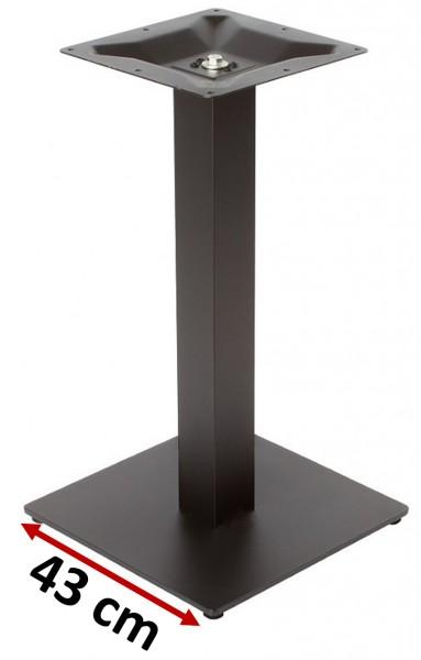 schwarzes Tischgestell NIZZA 43 für die Gastronomie