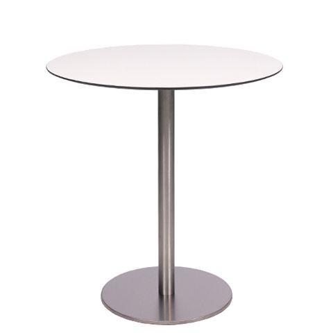 Tisch MARIANO D69-10 Edelstahl in weiß