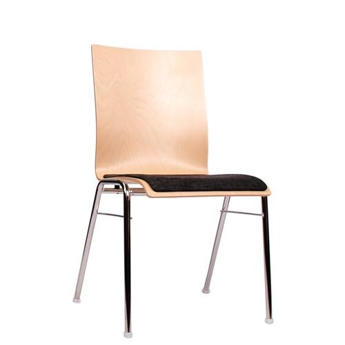 Stapelstühle gepolstert | Kantinenstühle | Konferenzstühle | Stühle Konferenzraum | Saalbestuhlung
