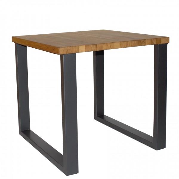 Metalltisch / Kufentisch Kufentischgestell URBINO Tischplatte aus massiver Eiche