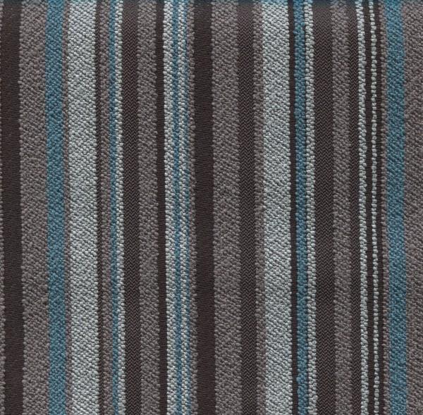 Möbelstoff | Polsterstoff mit Block-Streifen LUT431 - türkis-grau-anthrazit
