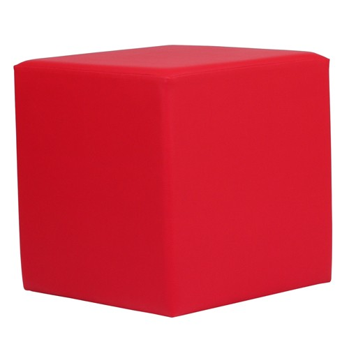 Sitzwürfel rot Kubix