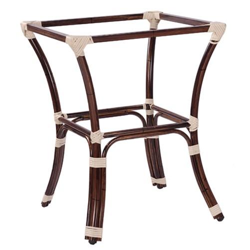 Outdoor Tischgestell BAMBU 4 aus  Aluminium-Rohr in Bambus-Optik
