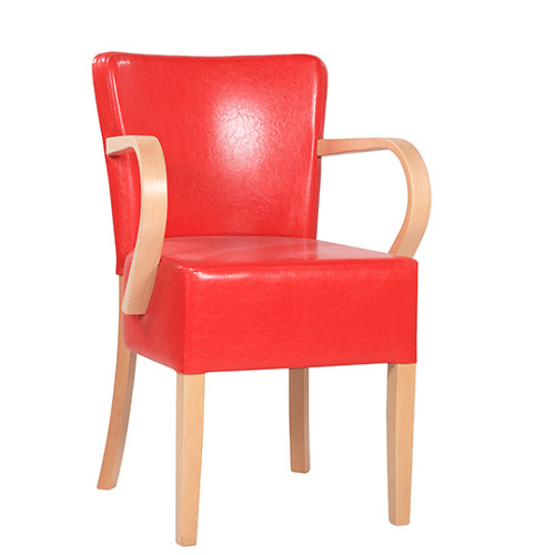 Polsterstuhl mit Armlehnen TANJA AL XL mit großer Sitzfläche