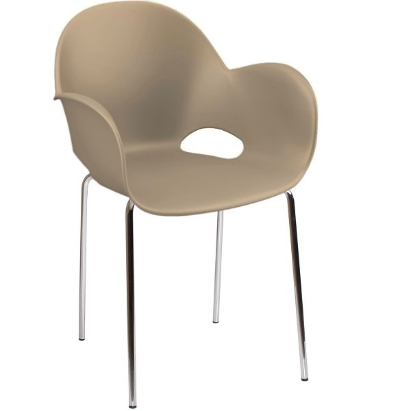 Schalenstuhl | Designer Stuhl CARMEN in Farbe fango