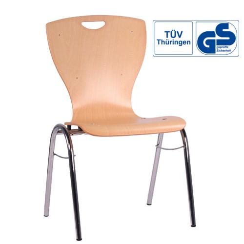 Konferenzstuhl Metall Gestell | Saalbestuhlung COMBISIT B60G mit GS Zeichen