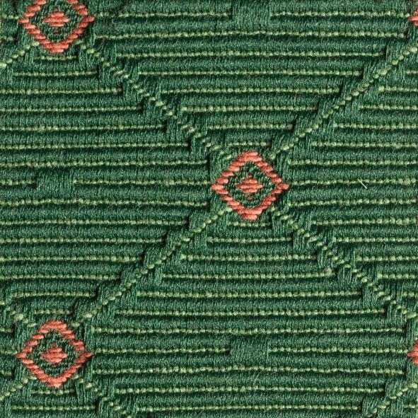 Stoff gemustert Rauten-Muster grün AYU