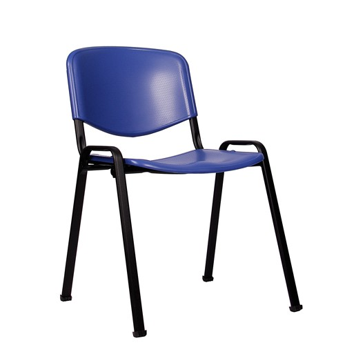 Stapelstuhl ISO P schwarz-blau
