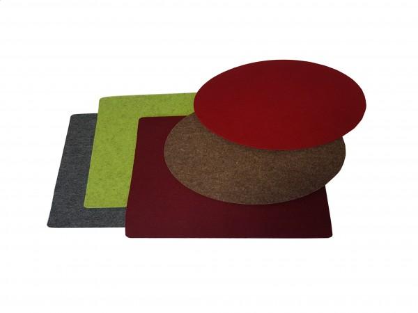 Filzauflage aus echtem Wollfilz in unterschiedlichen Formen und Farben