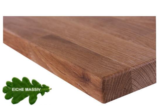 Tischplatte Eiche massiv geölt Gastroqualität