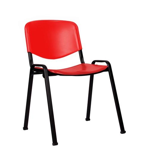 Stapelstuhl ISO P schwarz-rot