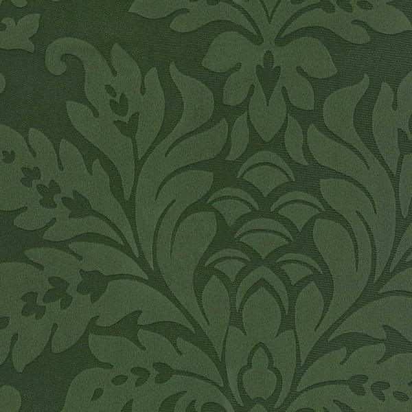 Möbelstoff nässeabweisend mit Ornamenten moosgrün