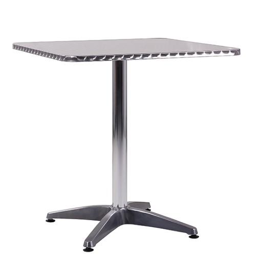Terrassentisch Bistrostisch RONNY Inox-Tischplatte 60x60 cm