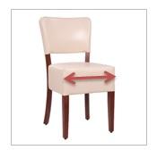 Komfortable-Sitzgröße 46 x 46 cm
