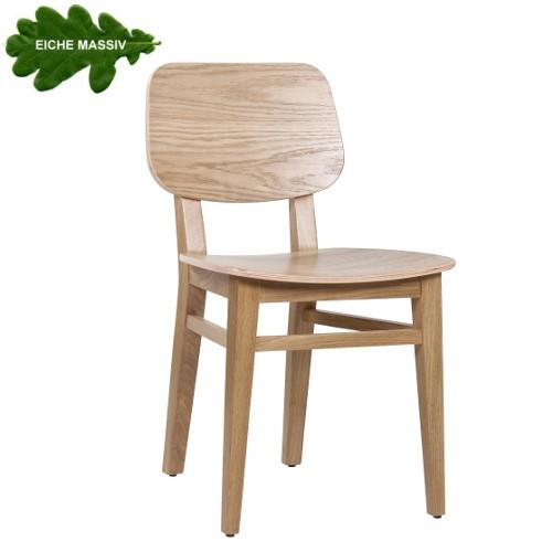 Eichestuhl Bistrostuhl OLIVER mit Holzsitz