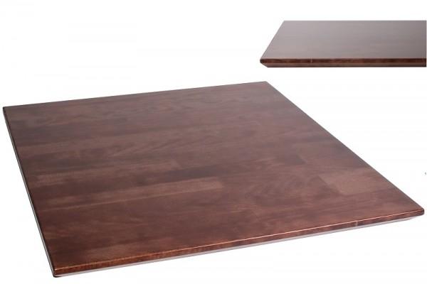 Massivholz-Tischplatten mit schräger Kante 70x70 cm