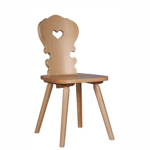 Holzstühle mit Herz | Bauernstuhl TRAUDEL Holzfarbe natur