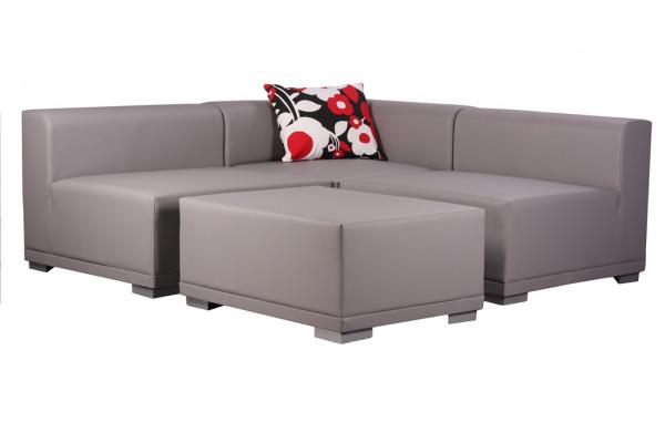 4- teilige Lounge-Sitzgruppe MELANO mit 9 Kissen