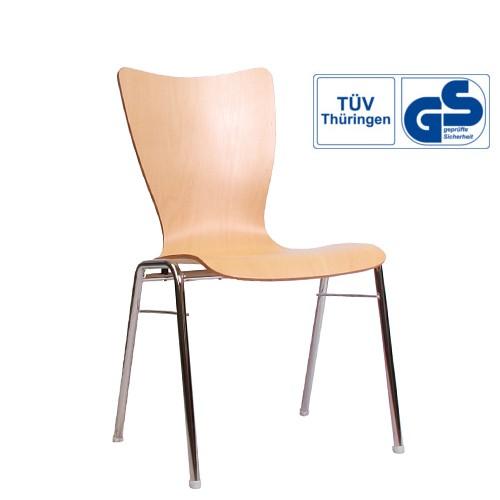 Konferenzstuhl Holzschalenstuhl COMBISIT A30 mit GS Zeichen