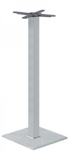 Outdoor Stehtischgestell PADUA 60IX mit quadratische Säule