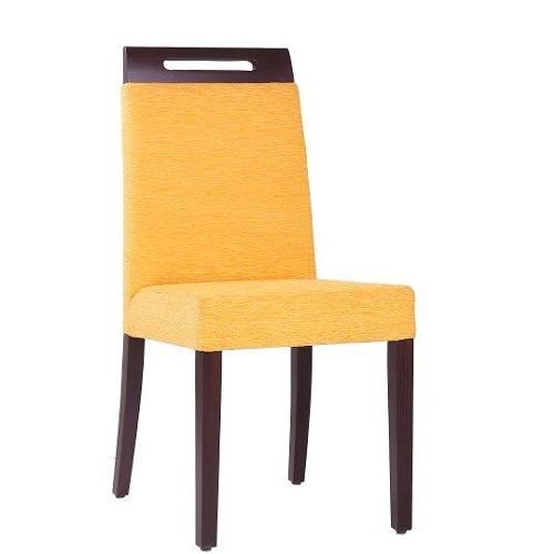 hochwertiger Restaurantstuhl Polsterstuhl mit praktischer Griffleiste in der Rückenlehne