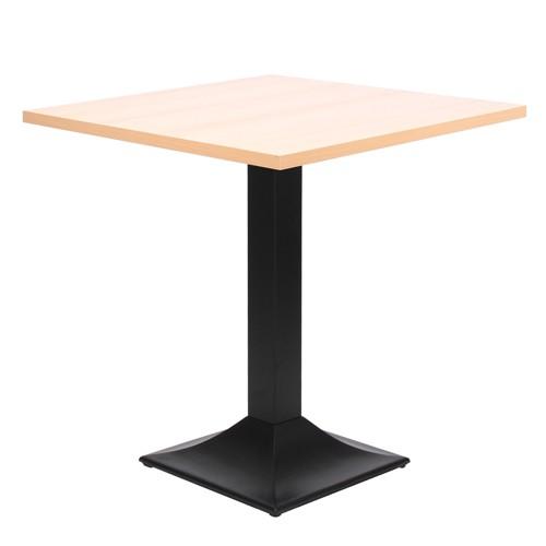 Tisch TIVOLI mit Melamin Tischplatte 25 mm, 70 x 70 cm, Buche natur