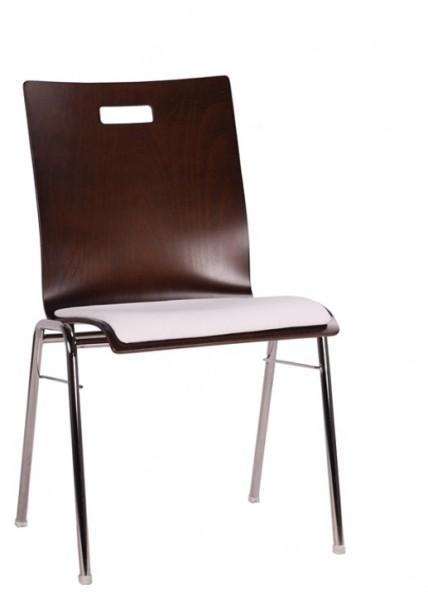 ergonomischer Schalenstuhl gepolstert COMBISIT A40G mit Griffloch, Sitzpolster beige