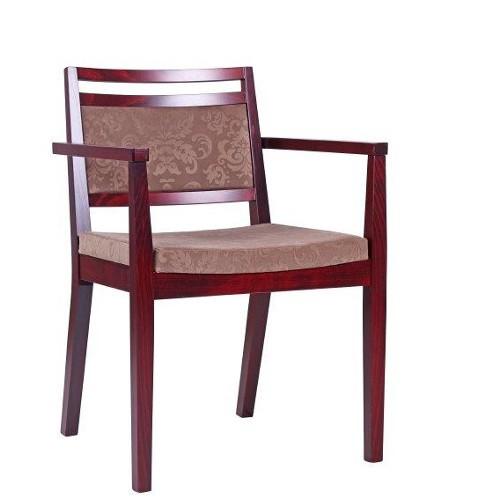 Restaurantstuhl mit Armlehnen | Bistrostuhl mit Armlehnen und Stoff mit Ornamenten wasser- & schmutzabweisend