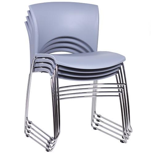 Stapelstuhl | Kunststoffschale grau