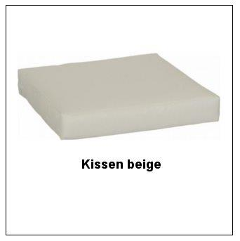 Sitzkissen (lose) in beige, 5 cm stark