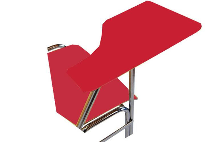 Schreibplatte mit HPL-Laminatfurnier (11 mm stark) rot