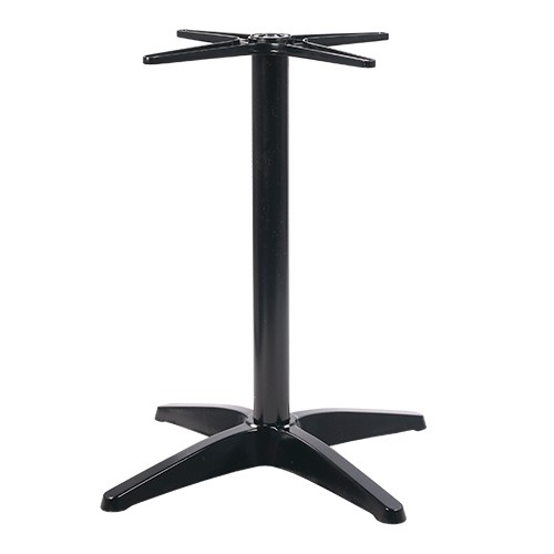 Outdoor Tischgestell   wetterfestes Tischgestell RONNY aus Aluminium in schwarz
