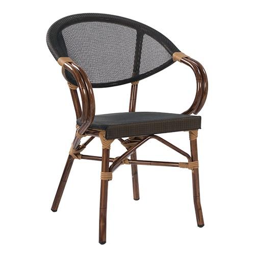 Designer Outdoor Stuhl MANGO in Bambusoptik - stapelbar