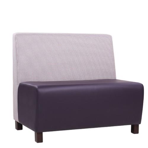 Gastrobank / Dinerbank(auf Wunsch auch zweifarbig Möglich), Rücken: Stoff mit Hahnentritt, Sitz: Kunstleder