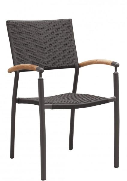 Outdoor Stuhl TORIN mit Armlehnen - stapelbar