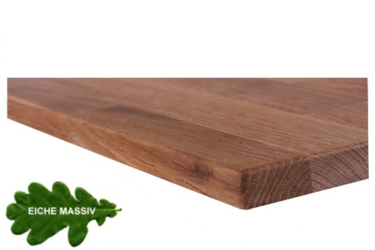 Tischplatte Eiche massiv geölt