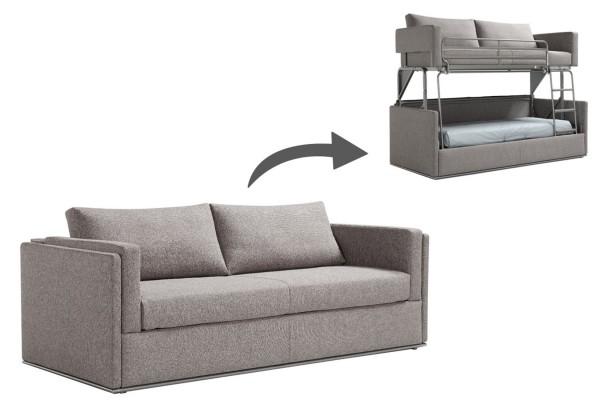Schlafsofa | Etagenbett | Couch ausklappbar zu einem Etagenbett