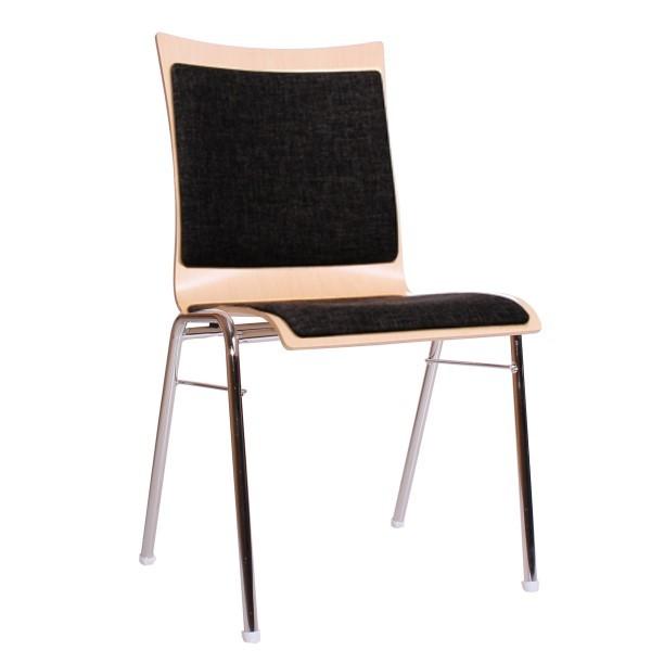 Konferenzstuhl | Seminarstuhl, Sitz und Rücken gepolstert