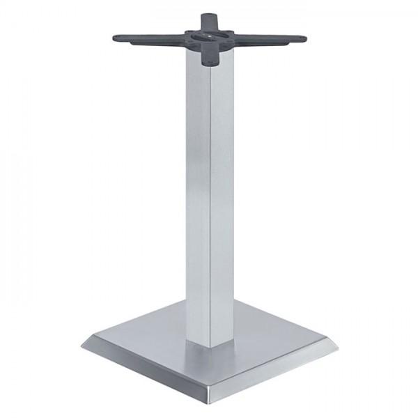 Edelstahl Tischgestell ROVETO IX - aus Gusseisen mit Edelstahl Abdeckung