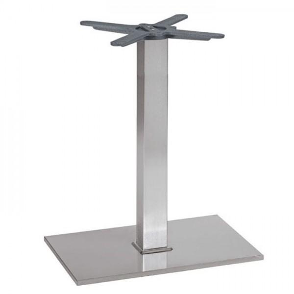 Modernes Tischgestell PADUA 64IX mit quadratischer Bodenplatte