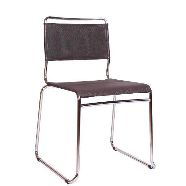Metallstuhl mit Kufengestell SANDRA stapelbar | Stuhl für Wartebereiche, Besprechungsräume und  Büros