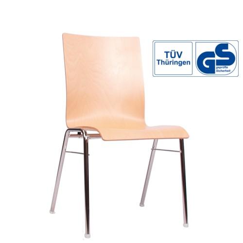 Konferenzstuhl | Stapelstuhl | Gastrostuhl COMBISIT A40 ohne Sitz- und Rückenpolster