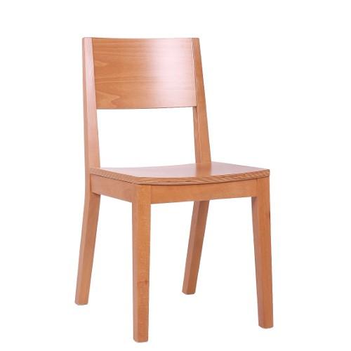 moderner Bistrostuhl mit Holzsitz