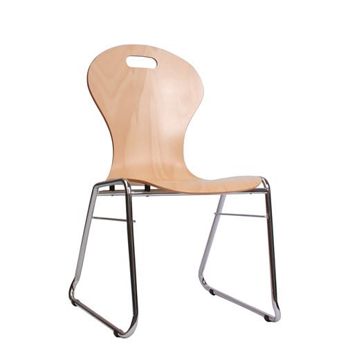 Holzschalenstuhl / Stapelstuhl COMBISIT C10G mit Griffloch ohne Sitzpolster