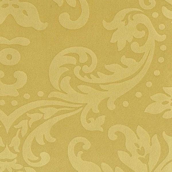 Polsterstoff BD25 im Barock Stil - Blumen Ornament in goldgelb